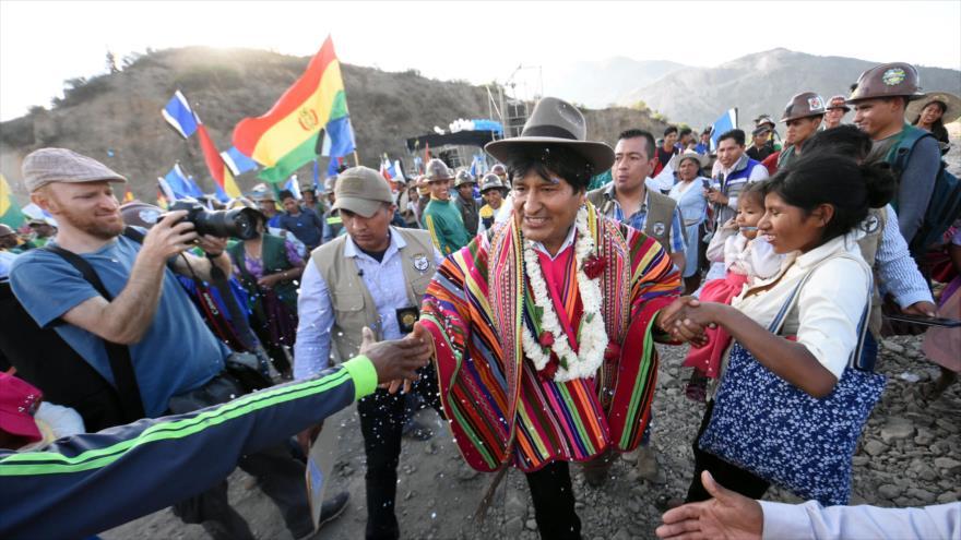 El presidente de Bolivia, Evo Morales, Sicaya, Cochabamba, 26 de octubre de 2019. (Foto: ABI)