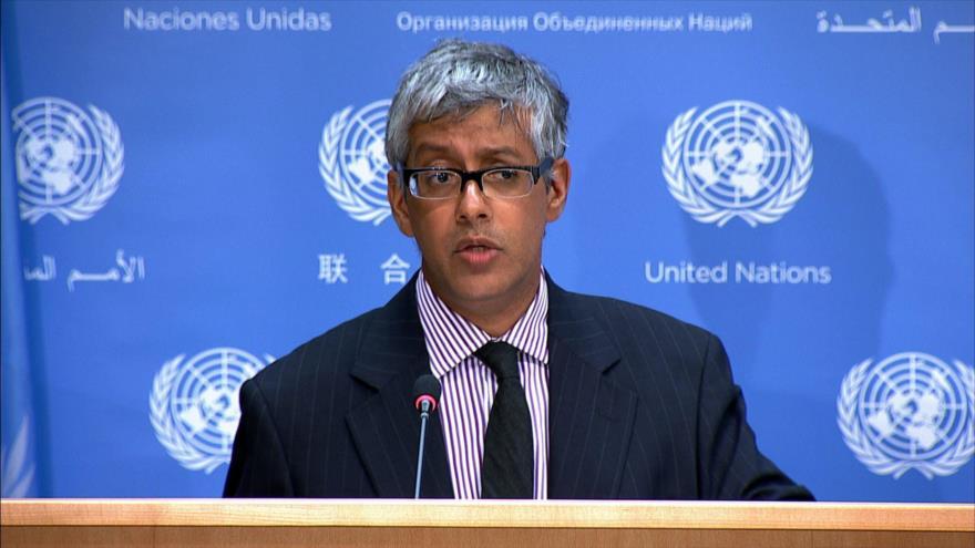 El portavoz adjunto de la Organización de las Naciones Unidas (ONU), Farhan Haq.