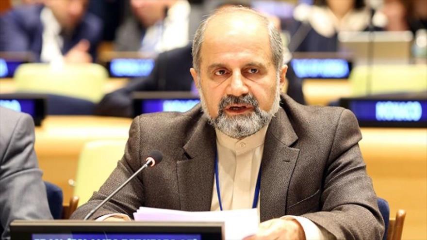El embajador adjunto de Irán ante la Organización de las Naciones Unidas (ONU), Eshaq Ale-Habib.