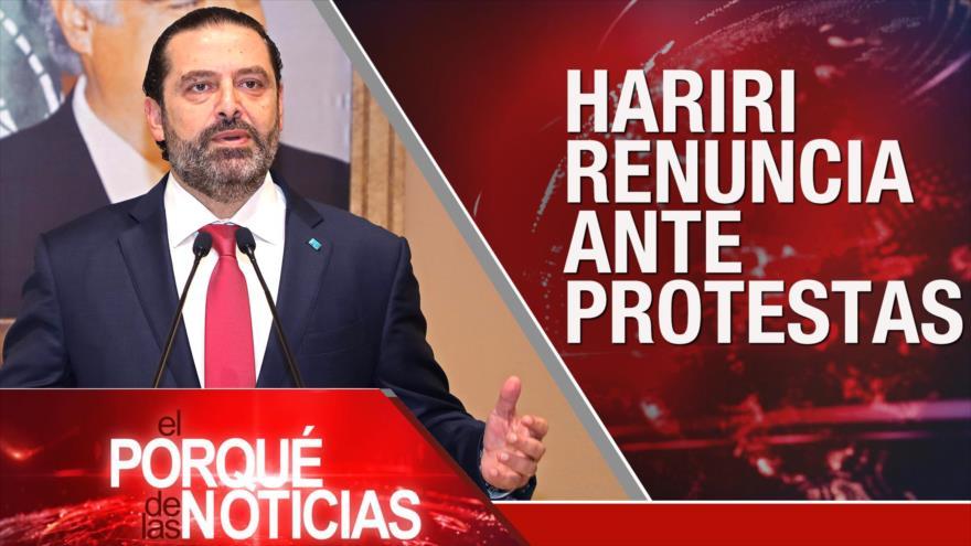 El Porqué de las Noticias: Renuncia del primer ministro de El Líbano. Conflicto sirio. Cuba y Rusia ante presiones de EEUU