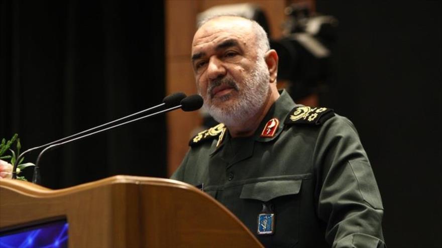 El comandante en jefe del Cuerpo de Guardianes de la Revolución Islámica (CGRI) de Irán, el general de división Hosein Salami.