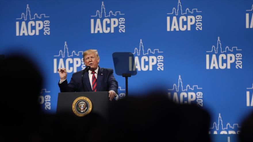 El presidente de EE.UU., Donald Trump, en Illinois, Estados  Unidos, 28 de octubre de 2019. (Foto: AFP)