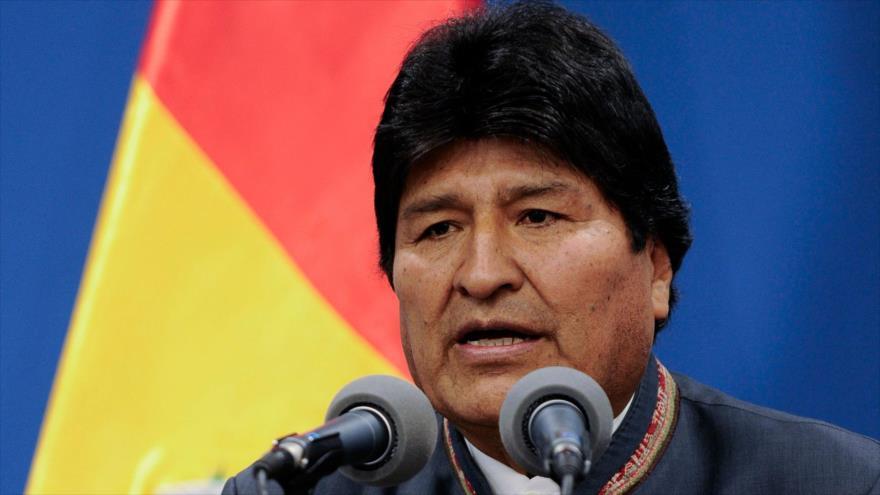El presidente de Bolivia, Evo Morales, en una rueda de prensa en La Paz (la capital del país), 31 de octubre de 2019. (Foto: AFP)