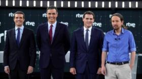 España realiza 1.º debate electoral de cara a los comicios de 10-N
