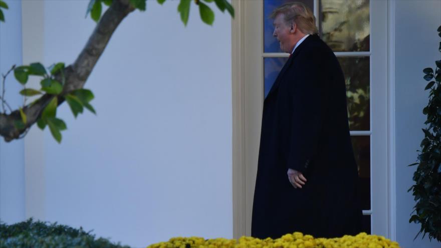 El presidente de Estados Unidos, Donald Trump, en la Casa Blanca, 1 de noviembre de 2019. (Foto: AFP)