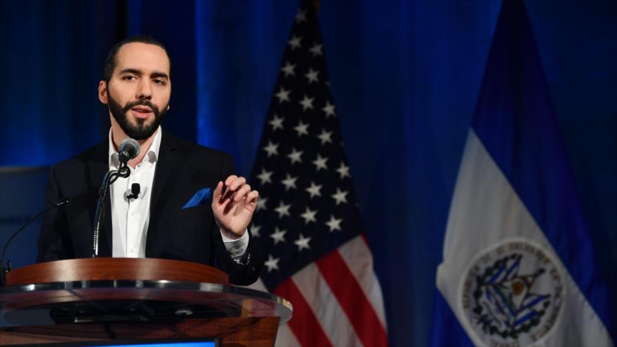El presidente de El Salvador, Nayib Bukele, ofrece un discurso en Washington, capital de EE.UU., 1 de octubre de 2019. (Foto: AFP)