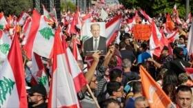 Libaneses marchan en respaldo de su presidente Michel Aoun