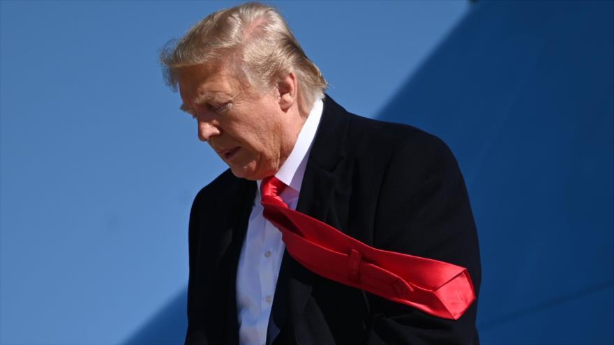 El presidente de Estados Unidos, Donald Trump, en la Base Conjunta Andrews, en el estado de Maryland, 3 de noviembre de 2019. (Foto: AFP)