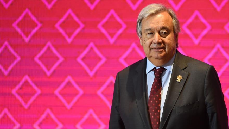 El Secretario General de las Naciones Unidas, António Guterres, durante la décima Cumbre ASEAN-ONU en Bangkok, 3 de noviembre de 2019. (Foto: AFP)