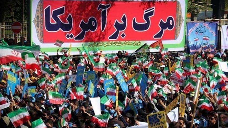 Manifestantes iraníes tachan a EEUU del 'enemigo de la humanidad'   HISPANTV