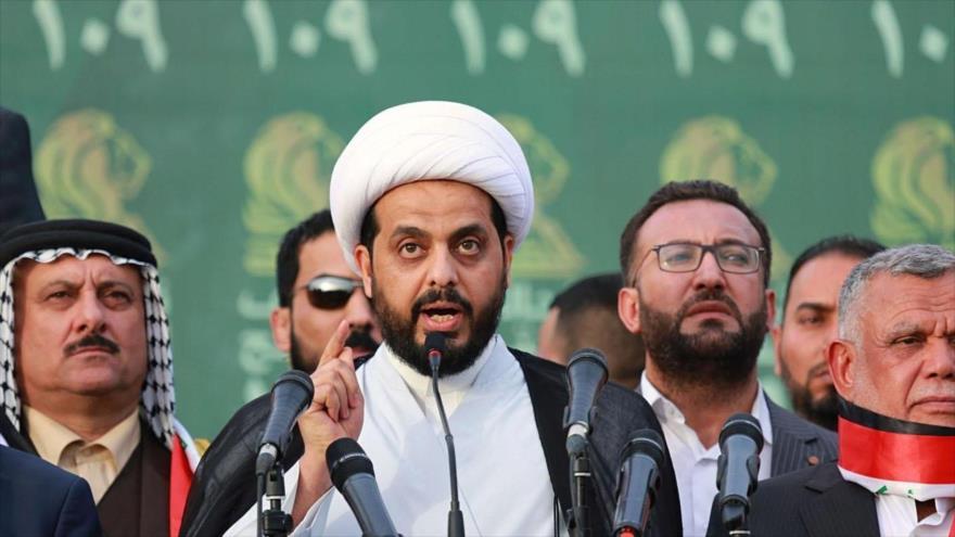 Qais Jazali, líder del grupo Asaib Ahl al-Haq, que forma parte de las Unidades de Movilización Popular de Irak (Al-Hashad Al-Shabi, en árabe).