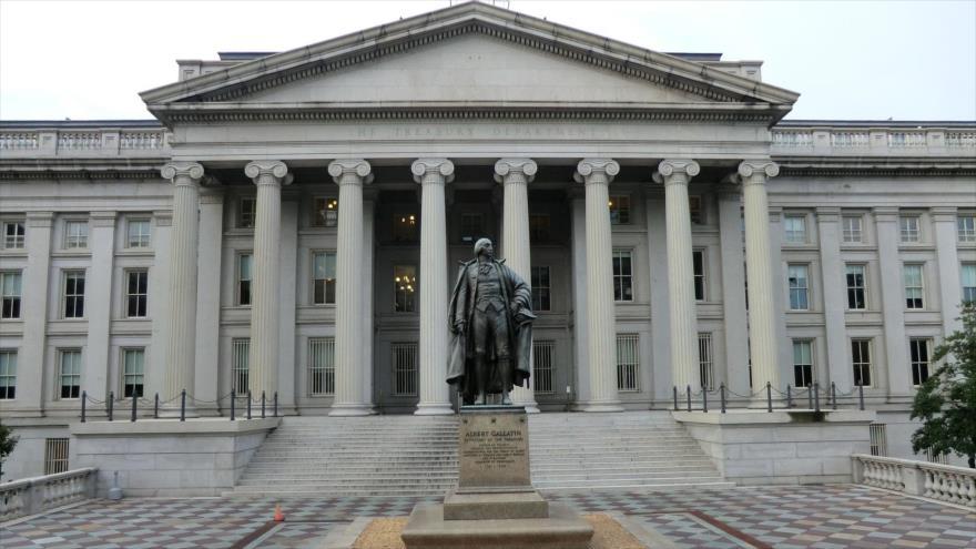 El edificio del Departamento del Tesoro de Estados Unidos, en Washington, la capital del país.