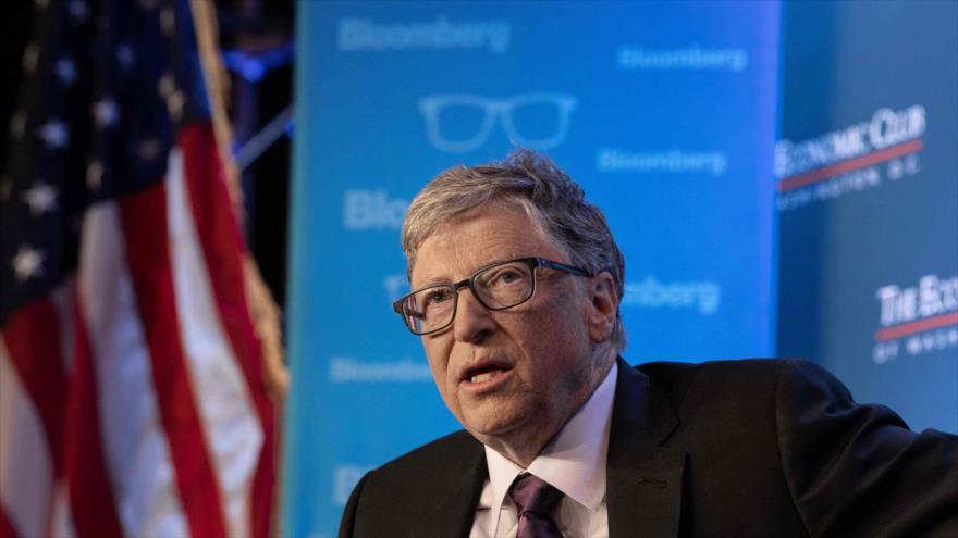El multimillonario estadounidense, Bill Gates, habla en el Club Económico de Washington, 24 de junio de 2019. (Foto: AFP)