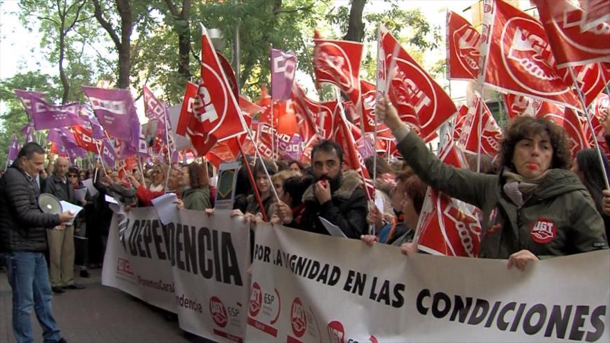 Trabajadores de la dependencia se movilizan en España