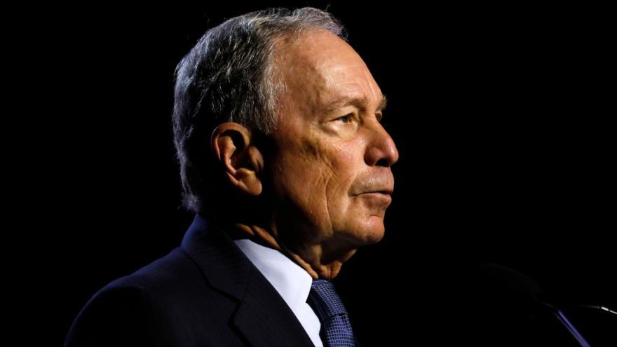El exalcalde de la ciudad de Nueva York, Michael Bloomberg, en un evento en Michigan, 24 de julio de 2019. (Foto: AFP)