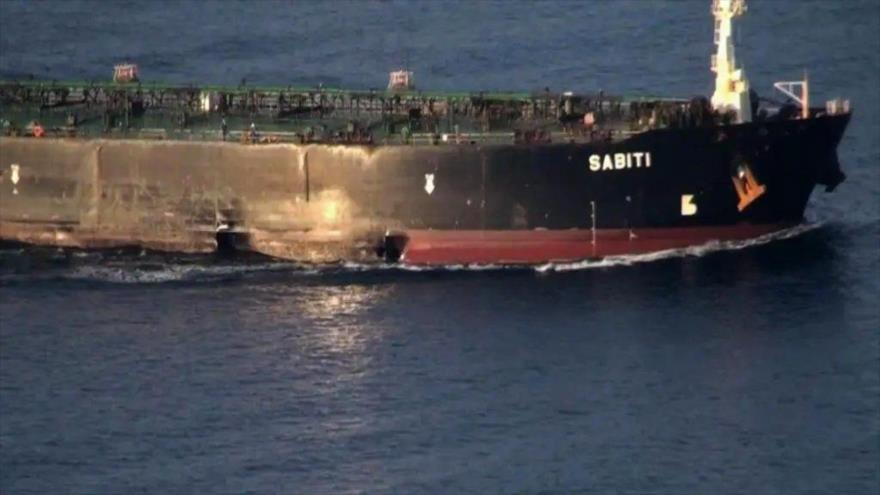 El petrolero iraní Sabiti en el mar Rojo, 13 de octubre de 2019. (Foto: AFP)