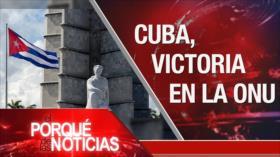 El Porqué de las Noticias: No al bloqueo de EEUU contra Cuba. Violencia poselectoral en Bolivia. Conflicto sirio