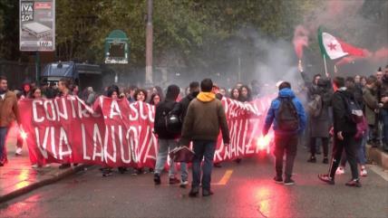 Estudiantes italianos denuncian precariedad del sistema educativo
