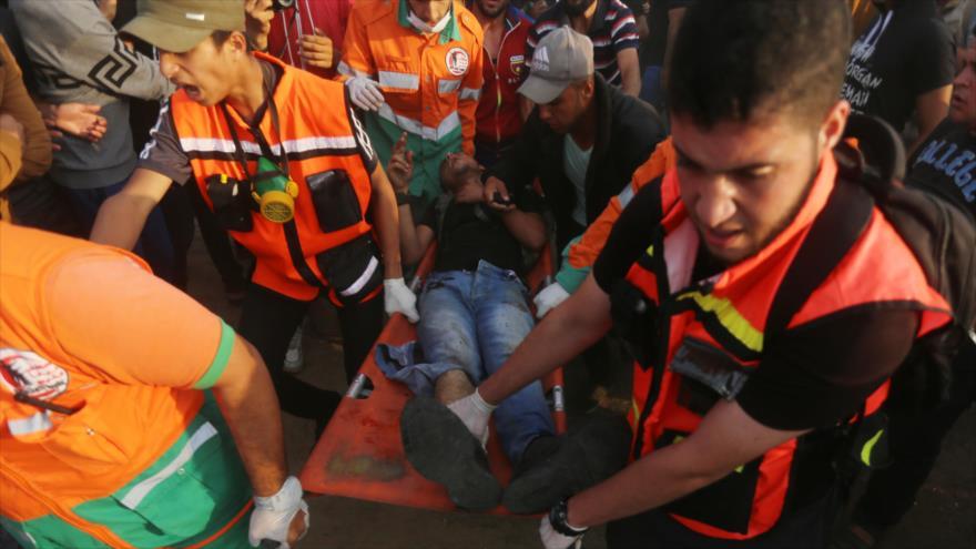 Al menos 69 palestinos heridos por la represión israelí en Gaza