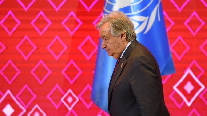 El secretario general de la ONU, António Guterres, en una de las citas de la 35.ª Cumbre de la ASEAN en Bangkok, Tailandia, 3 de noviembre de 2019. (Foto: AFP)