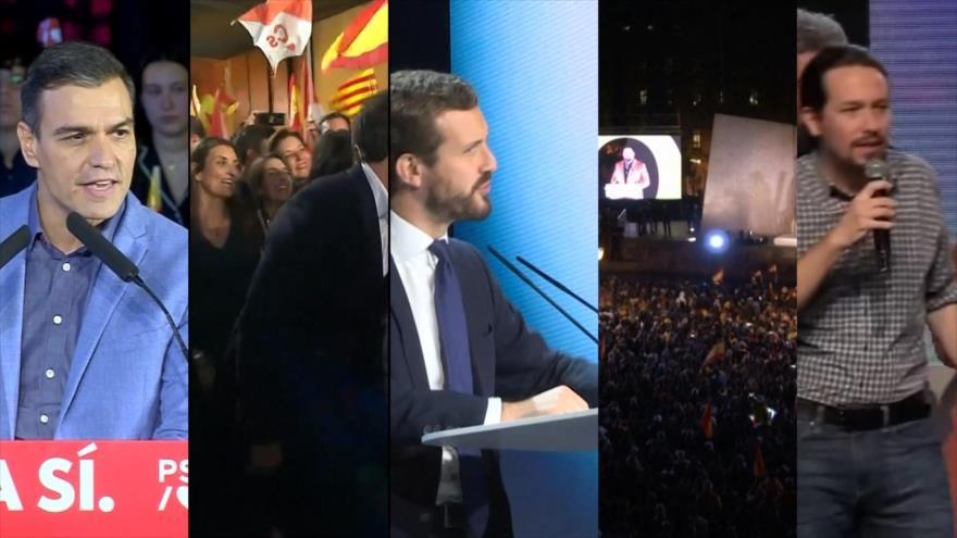 Partidos políticos de España cerraron sus campañas electorales