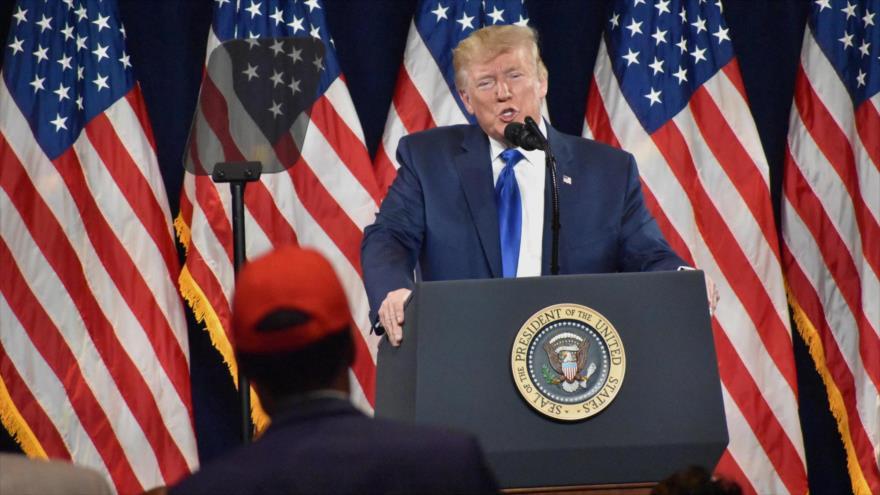 El presidente de EE.UU., Donald Trump, en un mitin electoral en Atlanta, Georgia, 8 de noviembre de 2019.