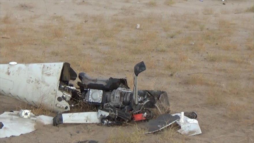 Un avión no tripulado (dron) de Arabia Saudí derribado por las fuerzas yemeníes.