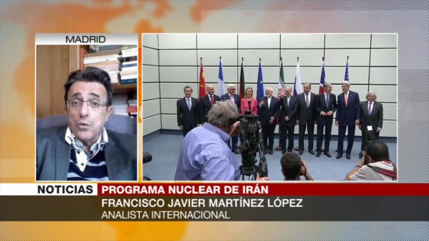 Martínez López: Pasos nucleares de Irán son una reacción natural