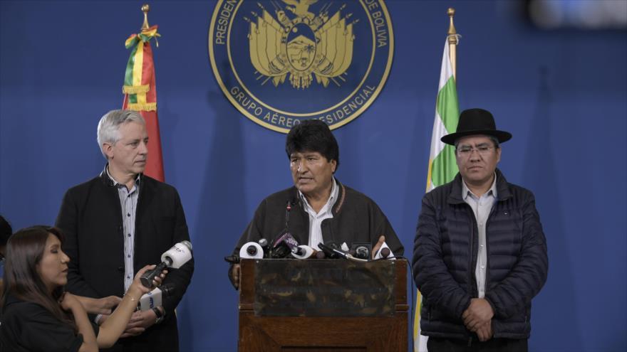El presidente de Bolivia, Evo Morales, ofrece un discurso en El Alto, 9 de septiembre de 2019. (Foto: ABI)