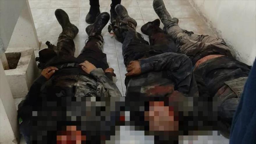 Policías muertos en un ataque armado en el municipio de San Vicente Coatlán, en el estado mexicano de Oaxaca, 8 de noviembre de 2019.