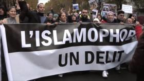 Miles de ciudadanos se manifiestan contra islamofobia en Francia