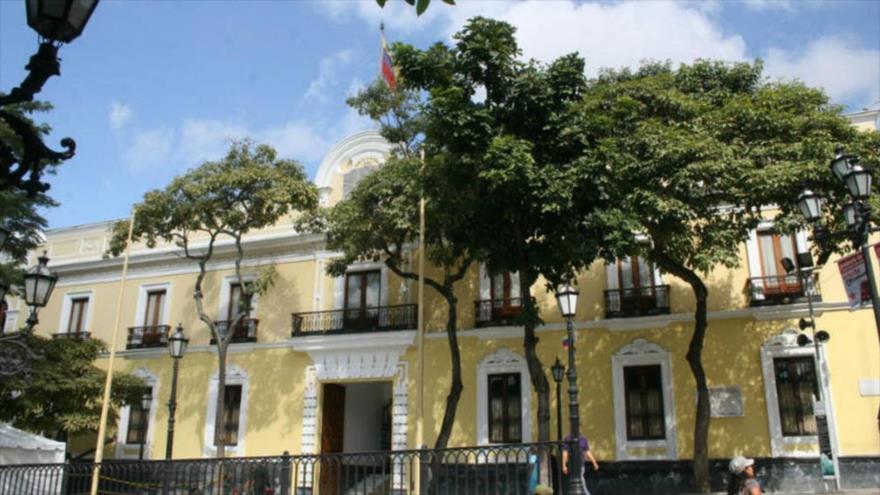 El edificio de la Cancillería de Venezuela en Caracas, capital del país.