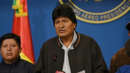 Morales carga contra líderes 'racistas' y 'golpistas' de Bolivia