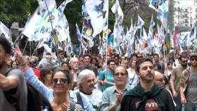 Masiva movilización argentina contra el golpe en Bolivia