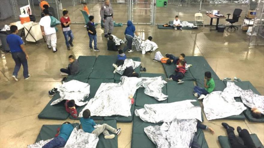 Una imagen del interior de un centro de detención estadounidense en Texas, 17 de junio de 2017. (Foto: CPB)