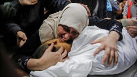 Familiares lloran el asesinato de joven palestino por Israel
