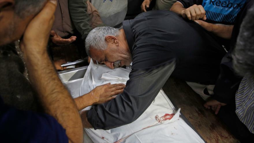 Un palestino muerto por ataques de Israel contra la Franja de Gaza, 12 de noviembre de 2019. (Foto: AFP)