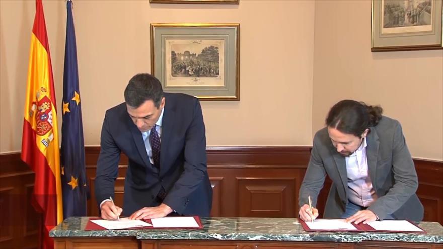 PSOE cierra preacuerdo de coalición con Unidas Podemos en España