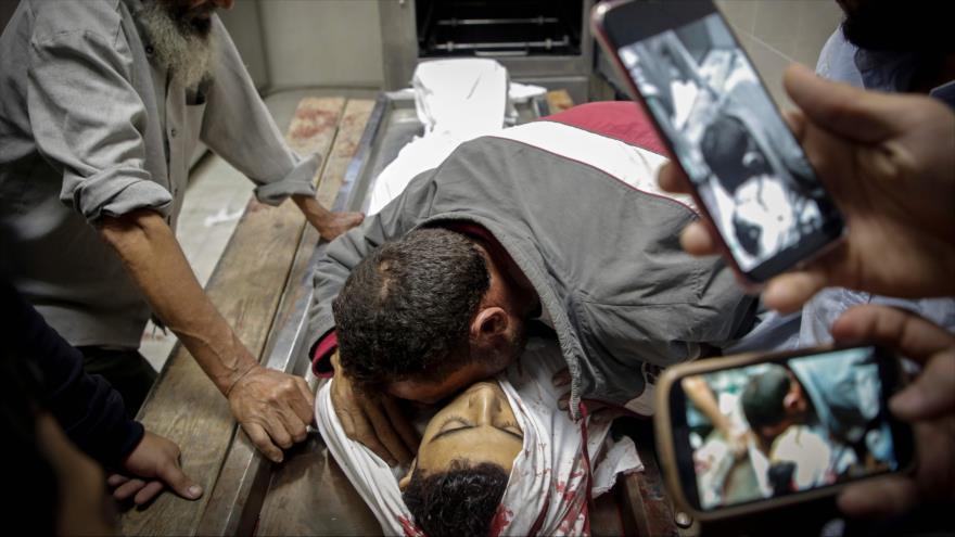 Joven palestino asesinado en un ataque de las fuerzas israelíes en la Franja de Gaza, 12 de noviembre de 2019. (Foto: AFP)