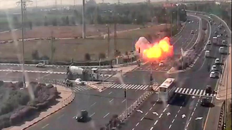 Vídeo: Cohete palestino impacta en área metropolitana de Tel Aviv