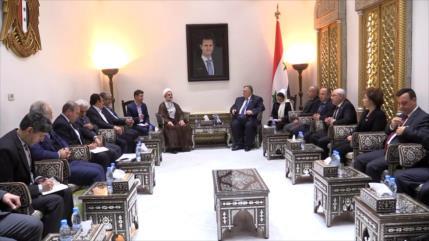 Reunión del parlamentario iraní con autoridades sirias en Damasco