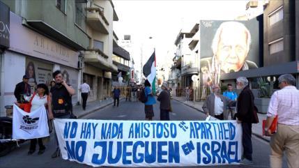 """""""No al amistoso Uruguay vs Argentina en los territorios ocupados"""""""