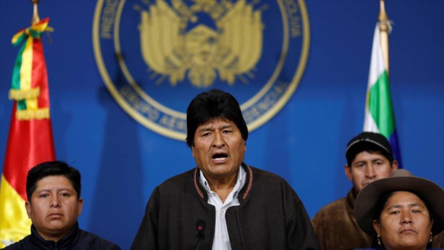 El presidente de Bolivia, Evo Morales, durante un discurso en la ciudad de La Paz.