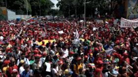 Miles de venezolanos marchan en Caracas en apoyo a Evo Morales