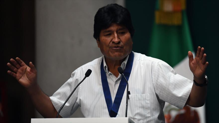"""Morales: Golpe de Estado es una conspiración que """"viene de EEUU"""""""