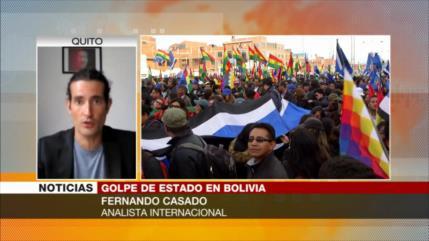 'Oligarquía boliviana reprime y persigue a partidarios de Morales'