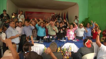 Frente Sandinista anuncia defensa de la soberanía en Nicaragua