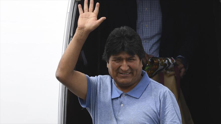 El expresidente de Bolivia Evo Morales en la Ciudad de México, 12 de noviembre de 2019. (Foto: AFP)