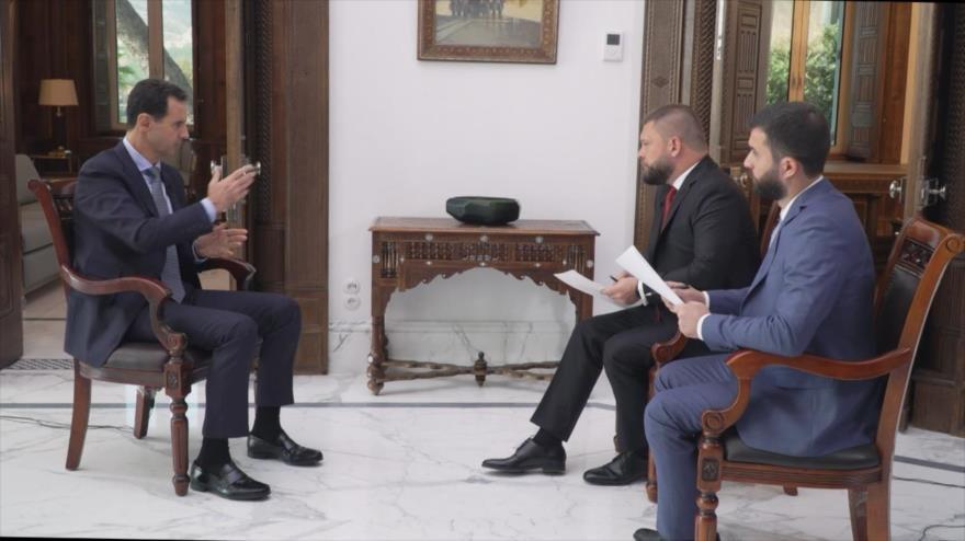 El presidente de Siria, Bashar al-Asad, en una entrevista con los medios rusos Ria Novosti y Rossiya 24, 14 de noviembre de 2019.