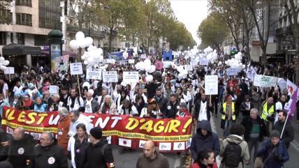 Franceses denuncian política del Gobierno en hospitales públicos